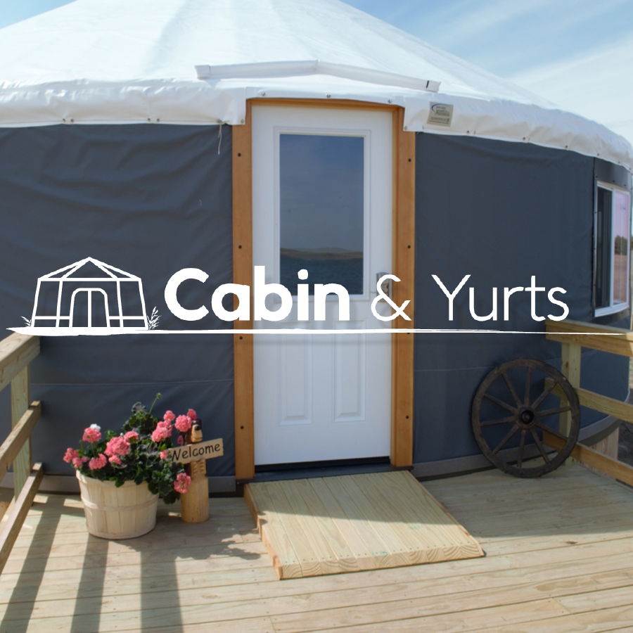cabin and yurts